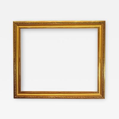 American 20th Century Arts and Crafts Gilded and Carved Picture Frame