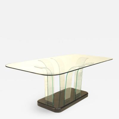 American Art Moderne Glass Dining Table