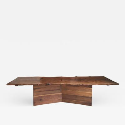 American Black Walnut Dining Table with Butterfly Joinery by Twentieth Studio