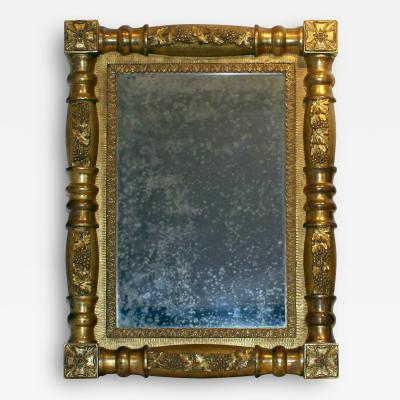 American Carved and Gilded Looking Glass Circa 1830
