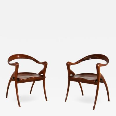 American Chair in wood mogany 1990