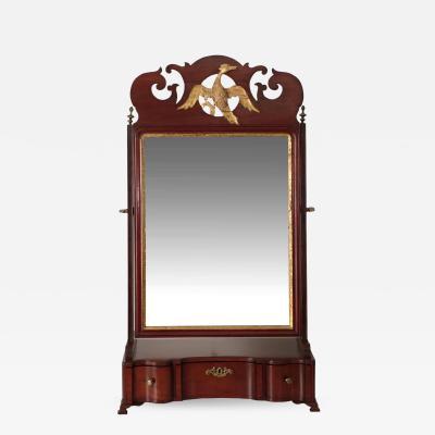 American Chippendale Mahogany Shaving Mirror circa 1790