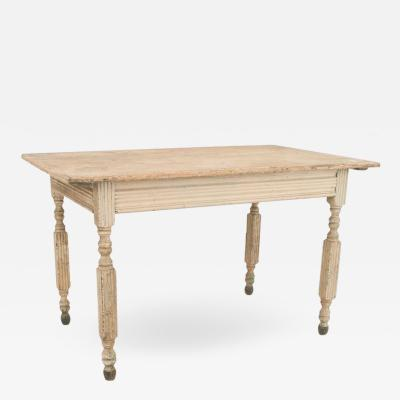 American Country Grey Painted Dining Table