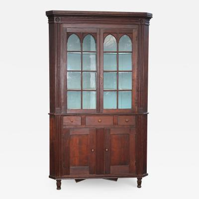 American Federal Cherrywood Corner Cupboard