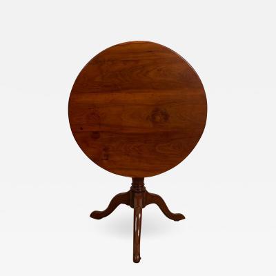 American Fruitwood Tilt Top Table Circa 1790