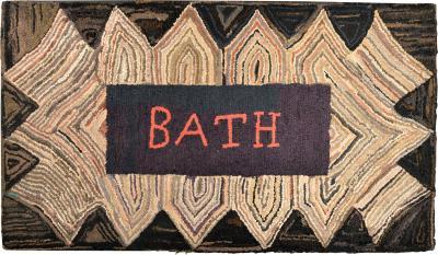 American Hooked Rug BATH Bath Maine The 1920s