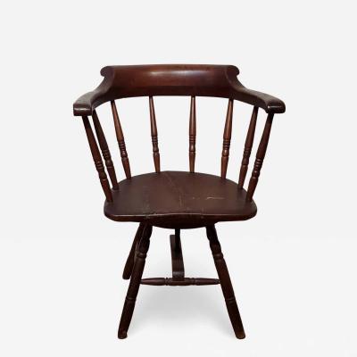 American Late Windsor Revolving Armchair circa 1840