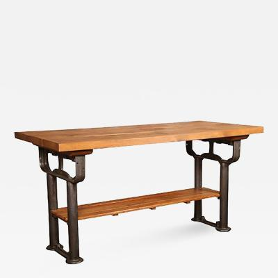 American Made Vintage Industrial Work Table Island