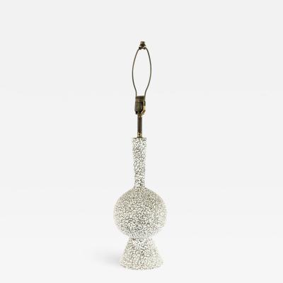 American Mid Century White Porcelain Table Lamp