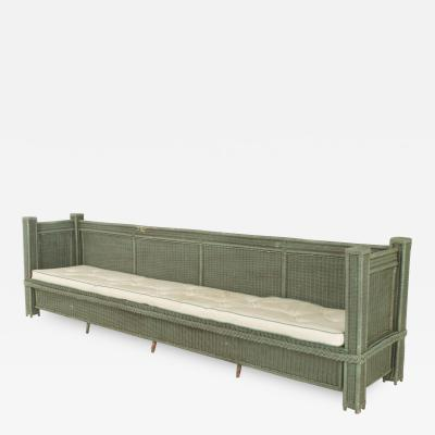 American Mission Style Green Painted Extend Settee