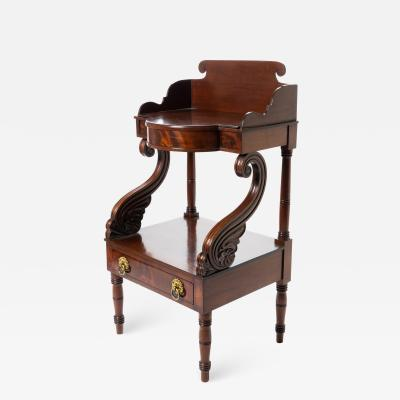 American Neo Classic mahogany wash stand