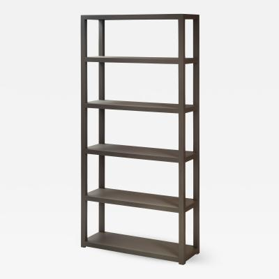 American Painted Parsons Style Bookcase Shelf Unit