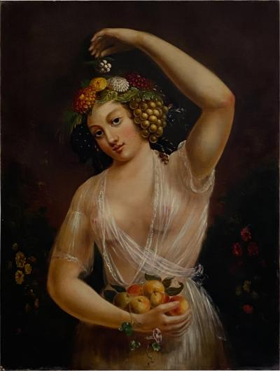 American Painting of a Beauty Circa Mid 19th Century