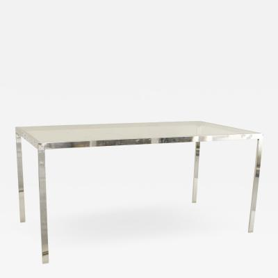 American Post War Design Chrome Dining Table