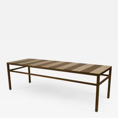 American Post War Design Rectangular Steel Coffee Table