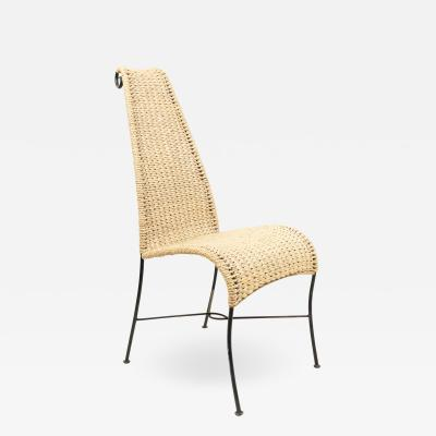 American Post War Rattan Side Chair