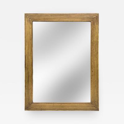 American Ribbed Giltwood Rectangular Mirror