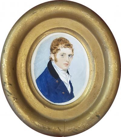 American School American School Portrait Miniature circa 1840