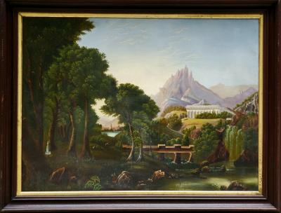 American School Dream of Arcadia an American School Oil Painting After Thomas Cole