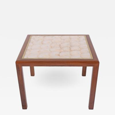 American Square Side Table with Seashell Top