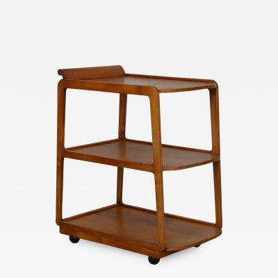 American Streamline Moderne Maple Bar Cart