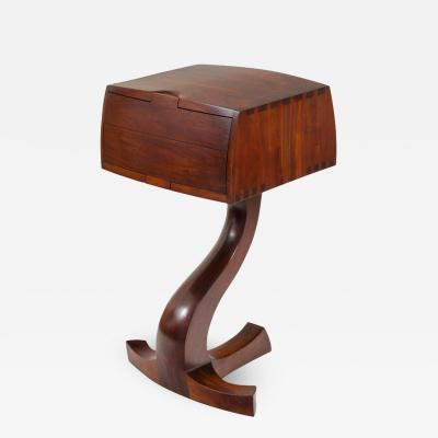 American Studio Crafts Movement Walnut Two Drawer Stand