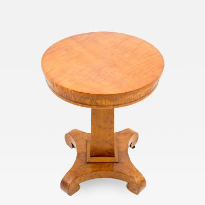 American curly maple side table