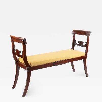 American mahogany chair back window bench