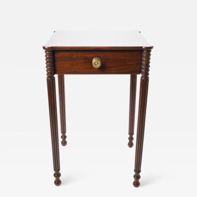 American mahogany one drawer stand