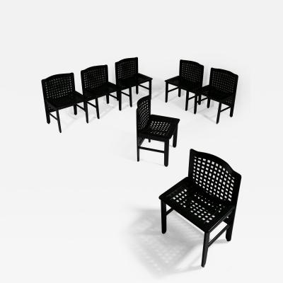 Ammannati Vitelli Set of Seven Dining Chairs by Ammannati and Vitelli for Pozzi Verga