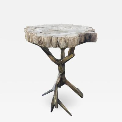 Amparo Calderon Tapia One of a Kind Bronzed Side Table by Amparo Calderon Tapia