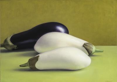 Amy Weiskopf Two White Eggplants