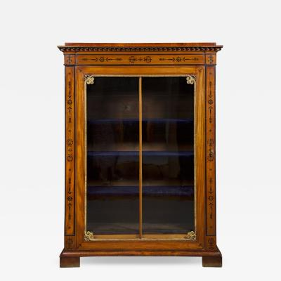 An Amaranth And Ebony Inlaid Display Cabinet Or Bookcase