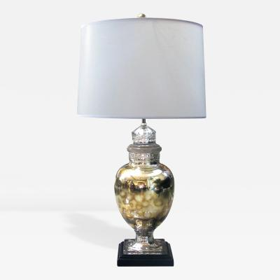 An American 1940s Mercury Mirror Apothecary Jar Now a Lamp