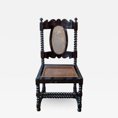 An Anglo Indian barley twist side chair
