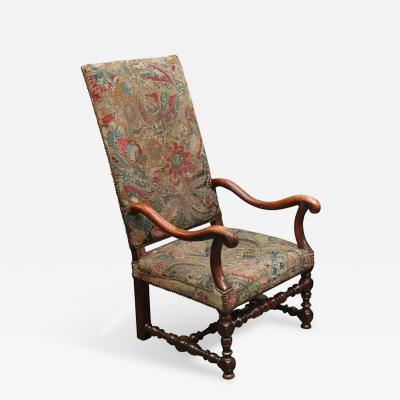 An Armchair with Upholstered Tapestry