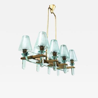 An Art Moderne 8 Light Chandelier
