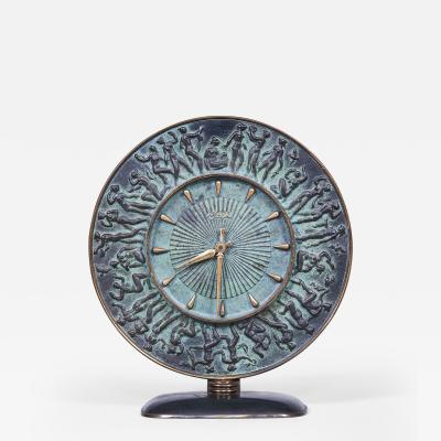 An Art Moderne Mantle Clock By Kienzle