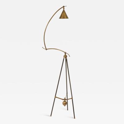 An Articulated Brass Architects Floor Lamp Circa 1960 70