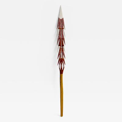 An Australian Aboriginal Carved and Painted Spear from Melville Island
