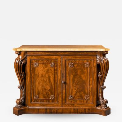 An Early Victorian Two Door Mahogany Side Cabinet Attributed To Gillows