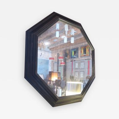 An Ebonized Wood Wall Mirror Italy 1960