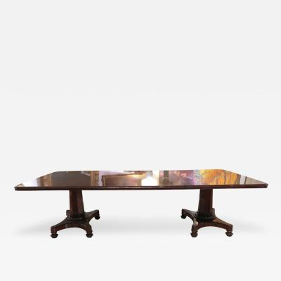 An Elegant Mahogany Two Pedestal Dining Table