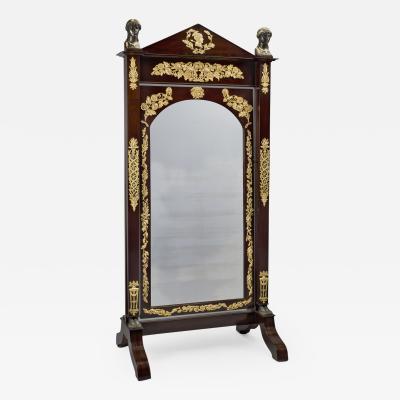 An Empire Mahogany Cheval Mirror