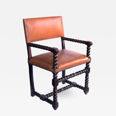 An English Baroque Style Walnut Bobbin Chair
