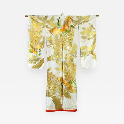An Exceptional Embroidered Vintage Japanese Ceremonial Kimono