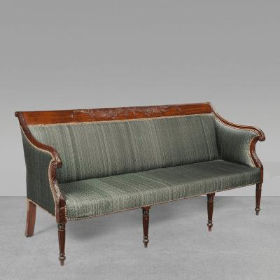 An Exceptional Philadelphia Federal Carved Mahogany Sofa Circa 1815