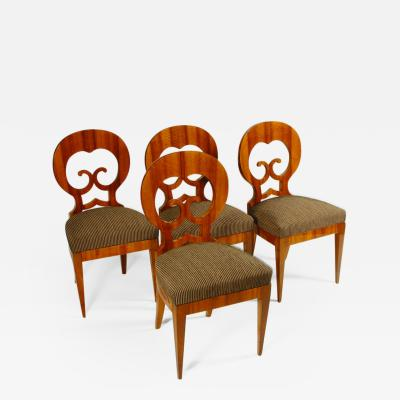 An Exceptional Set of Four Biedermeier Side Chairs