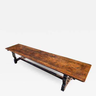 An Exceptional Spanish Walnut Trestle Table
