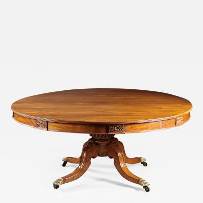 An Exceptionally Large Anglo Indian Padouk Center Table